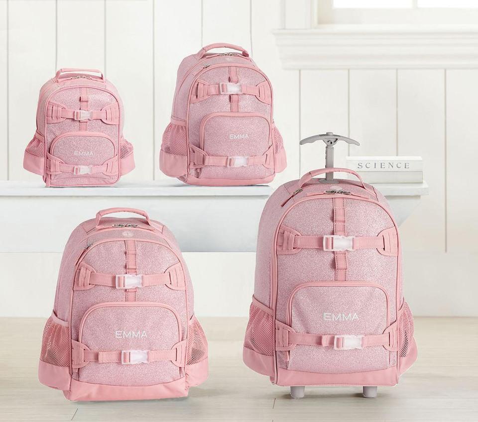 Mackenzie Pink Sparkle Glitter Backpacks Pottery Barn Kids