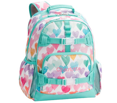 Mackenzie Rainbow Hearts Backpacks