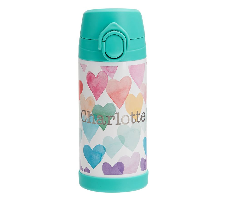 Mackenzie Rainbow Hearts Water Bottles