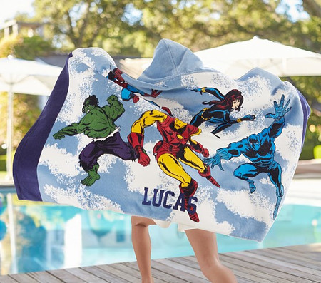 Marvel Kids Beach Hooded Towel