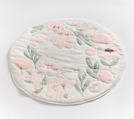 Meredith Floral Muslin Travel Play Mat