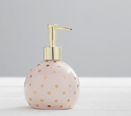 Metallic Dot Bath Accessories