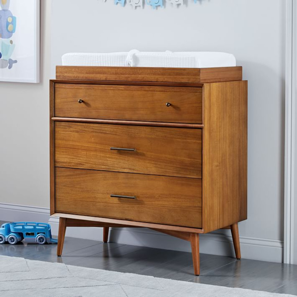 west elm x pbk Mid-Century Dresser & Change Table Topper, Acorn
