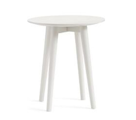 Modern Spindle Side Table - Simply White