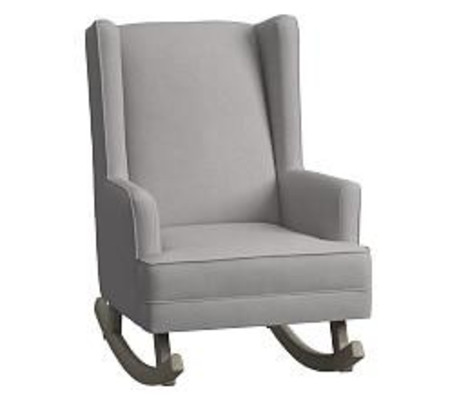 Modern Wingback Convertible Rocker - Linen Blend, Grey