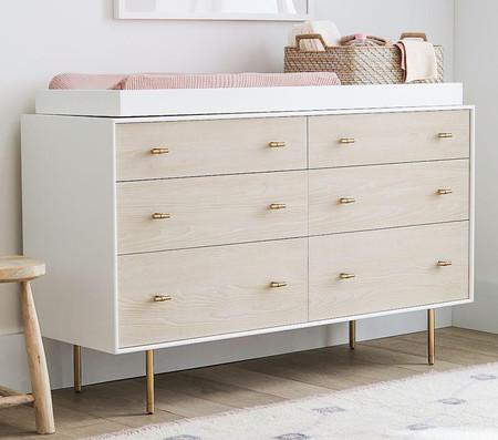 west elm x pbk Modernist Extra-Wide Dresser & Change Table Topper