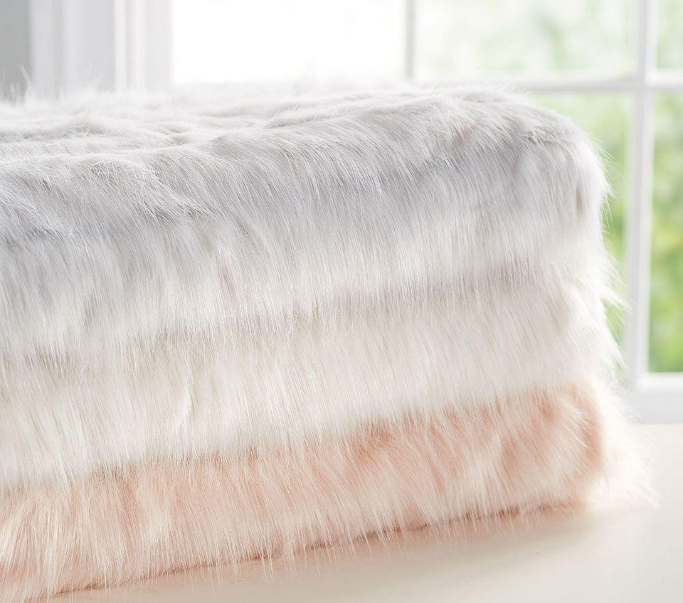 Monique Lhuillier Channel Fur Throw