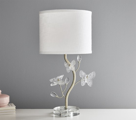 Monique Lhuillier Crystal Butterfly Table Lamp