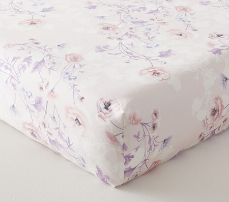 Monique Lhuillier Organic Floral Cot Fitted Sheet