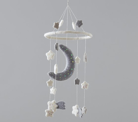 Moon And Stars Felted Nursery Mobile