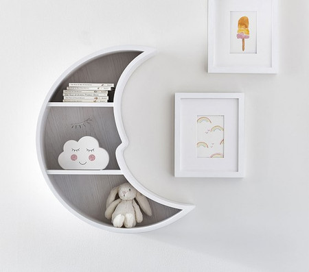 Moon-Shaped Shelf