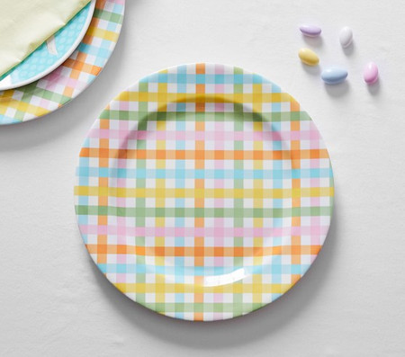 Multi Gingham Charger Plate
