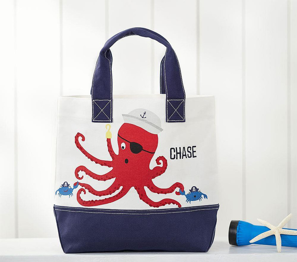 Nautical Octopus Pirate Tote