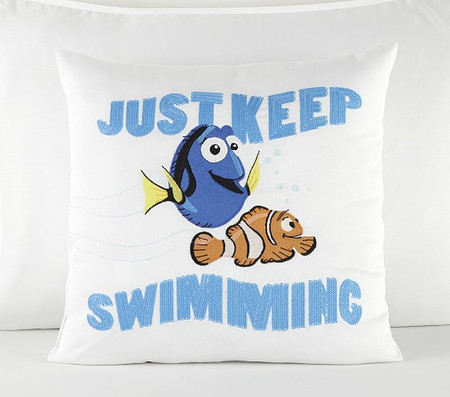 Disney and Pixar Finding Nemo Just Keep Swimming Decorative Cushion