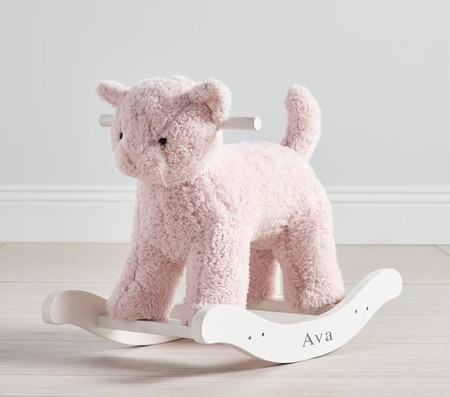 Sherpa Kitty Plush Nursery Rocker