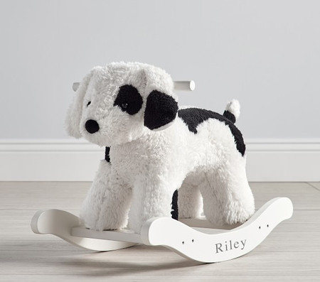 Sherpa Puppy Plush Nursery Rocker