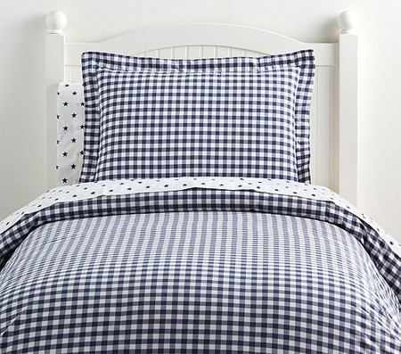 Organic Check Quilt Cover