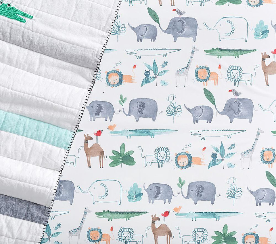 Organic Colby Animal Cot Fitted Sheet