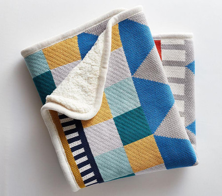 west elm x pbk Knit Cotton Geometric Baby Blanket
