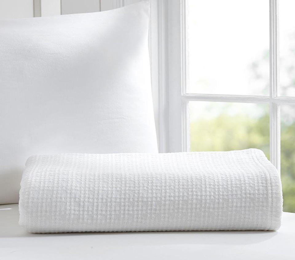 Organic Cotton Woven Bed Blanket