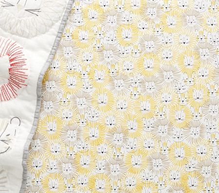 Organic Emery Lion Cot Fitted Sheet