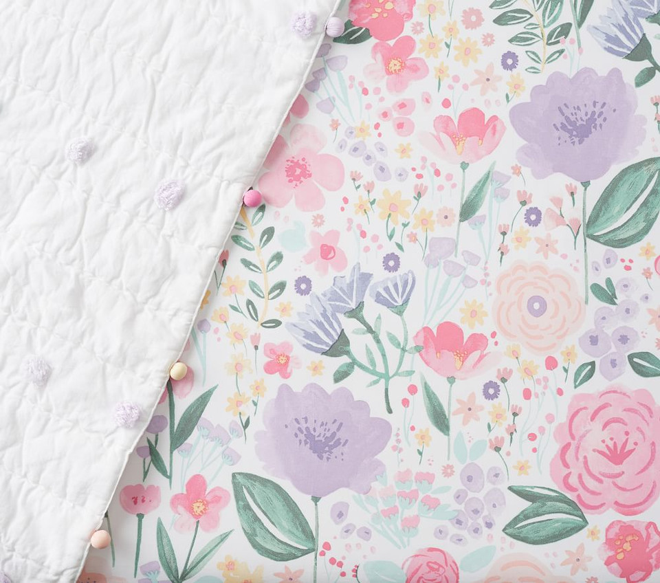 Organic Flora Fitted Cot Sheet