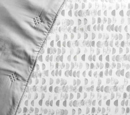 west elm x pbk Organic Half Moon Cot Fitted Sheet