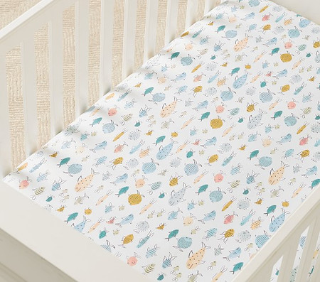 Organic Kelley Fish Cot Fitted Sheet