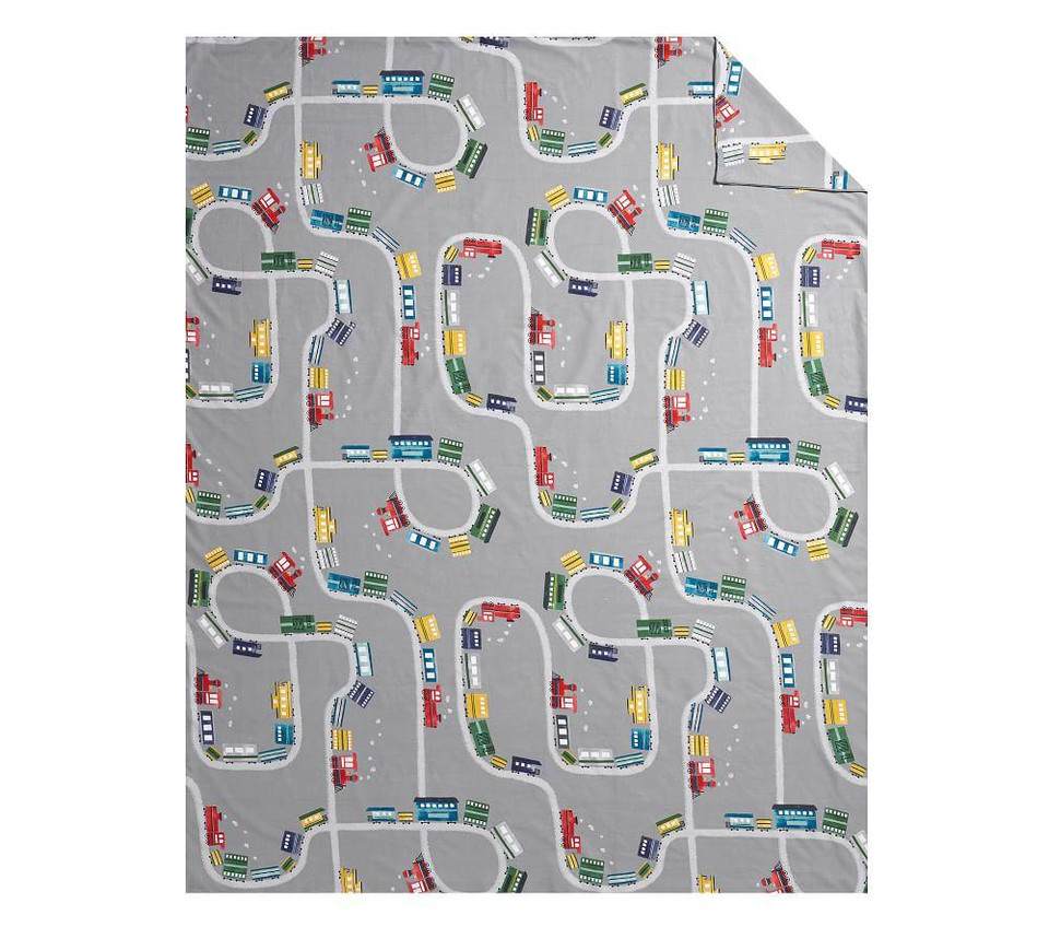 Organic Maxwell Train Quilt Cover Pottery Barn Kids