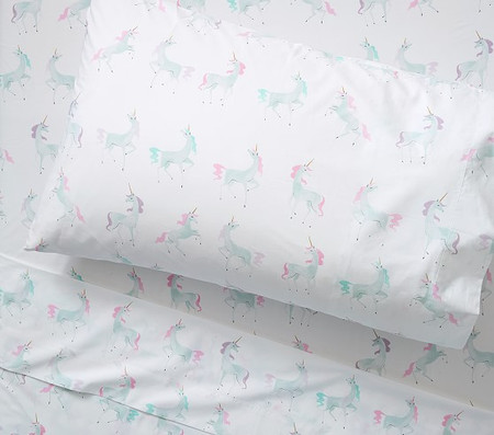 Organic Mystical Unicorn Sheet Set