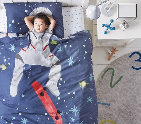 Organic Picture Perfect Astronaut Single/Double Quilt Cover Set