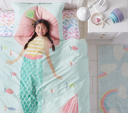 Organic Picture Perfect Mermaid Single/Double Quilt Cover Set