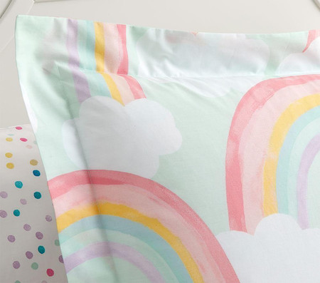 Organic Rainbow Skies Quilt Cover