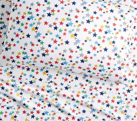 Organic Retro Star Sheet Set