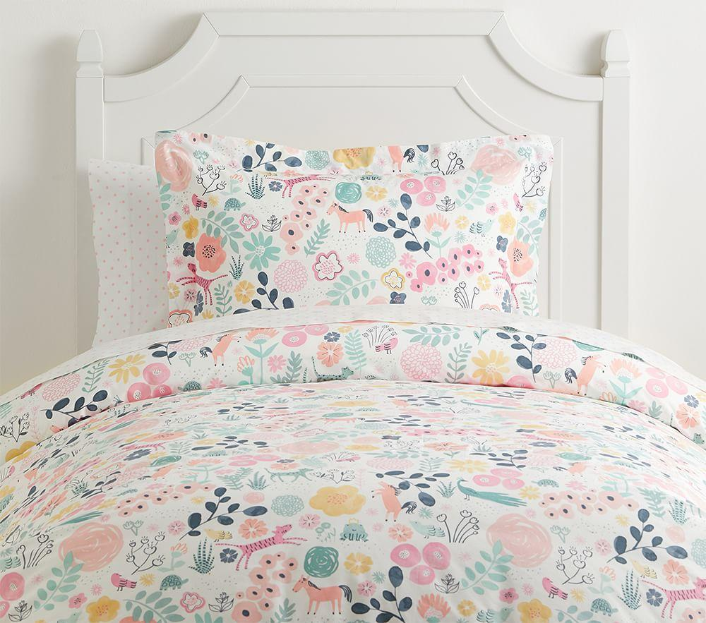 Pottery Barn GARDEN Party Organic Duvet Cover ~ FULL//Queen Size ~ Bedding