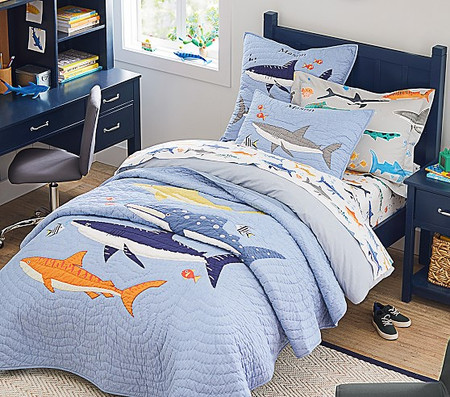 Organic Shark Party Sheet Set