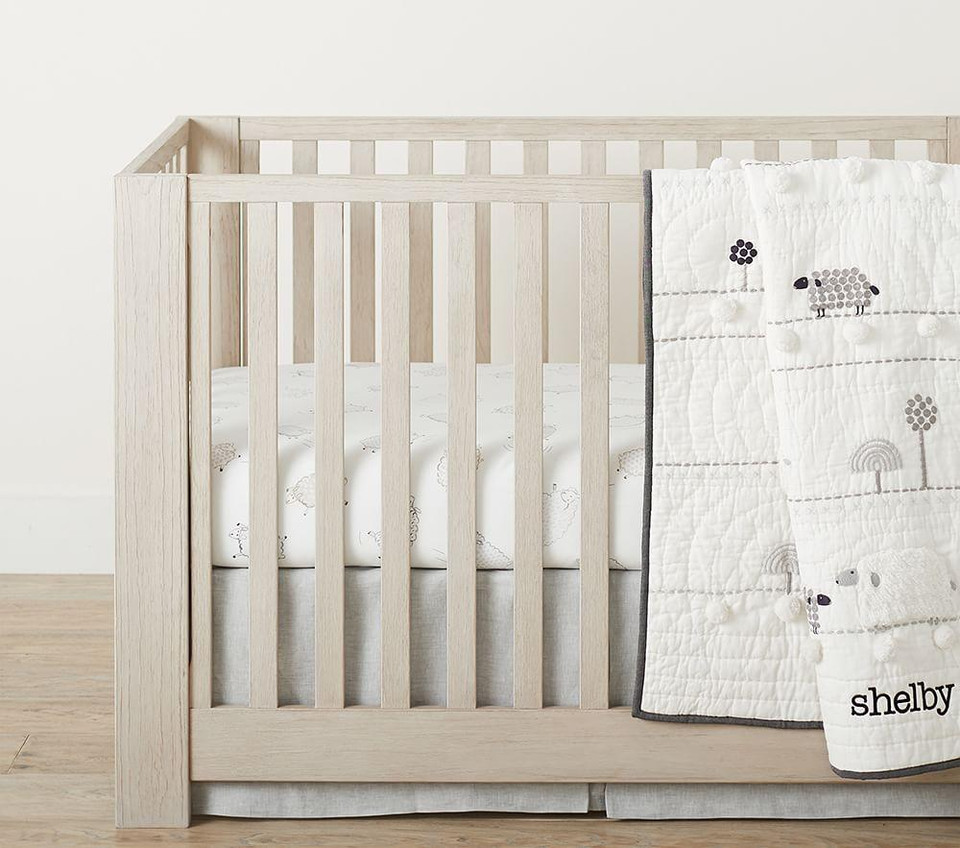 Organic Shelby Sheep Cot Fitted Sheet
