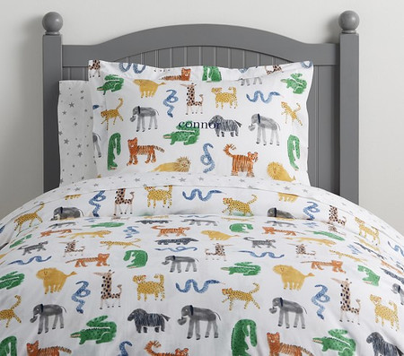 Organic Silly Safari Quilt Cover