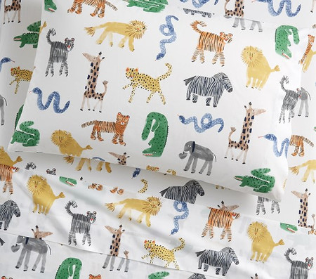 Organic Silly Safari Sheet Set