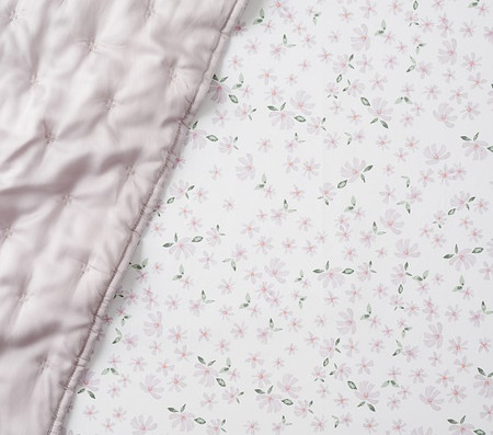Organic Tiny Meredith Floral Fitted Cot Sheet