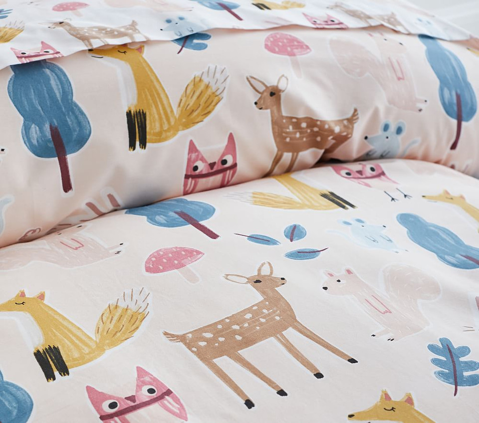 Organic Willa Woodland Quilt Cover Pottery Barn Kids Au
