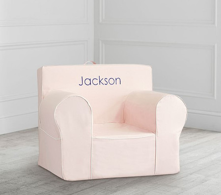 Oversized Blush with White Piping Anywhere Chair®