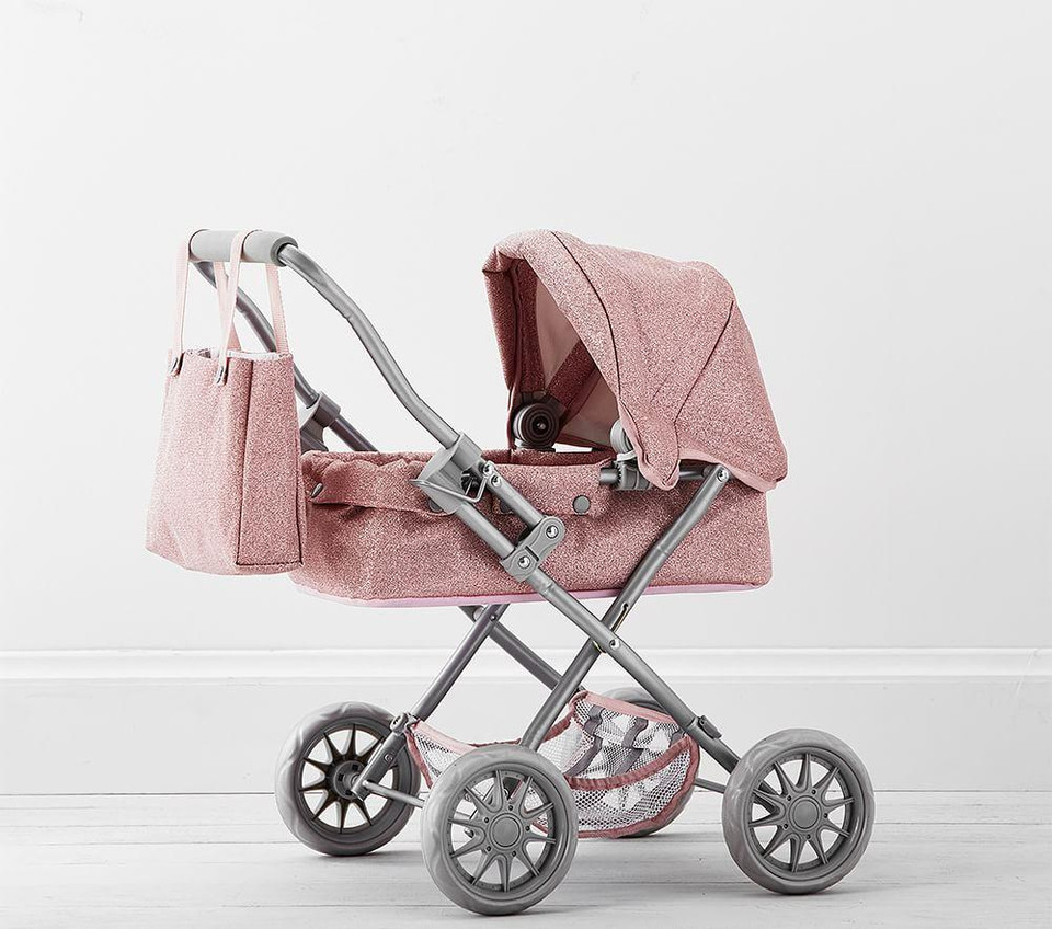 Pink Glitter Mini Doll Pram Pottery Barn Kids