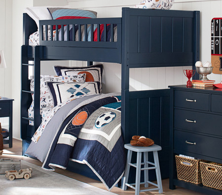 Camp King Single Bunk Bed - Navy
