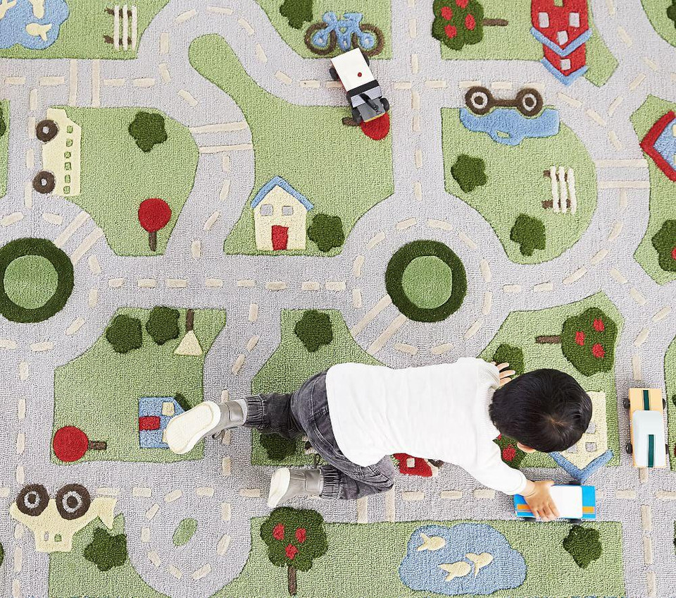 3D Activity Play in the Park Rug