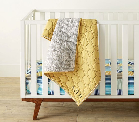 west elm x pbk Honeycomb Baby Bed Linen