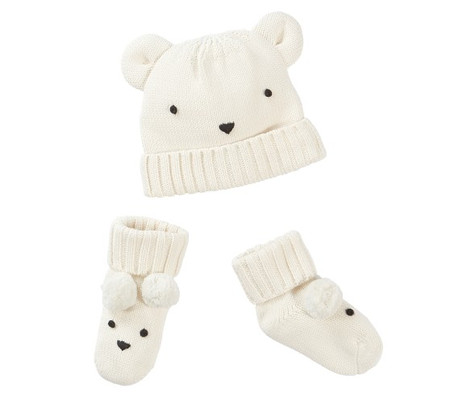Polar Bear Hat and Bootie Sets