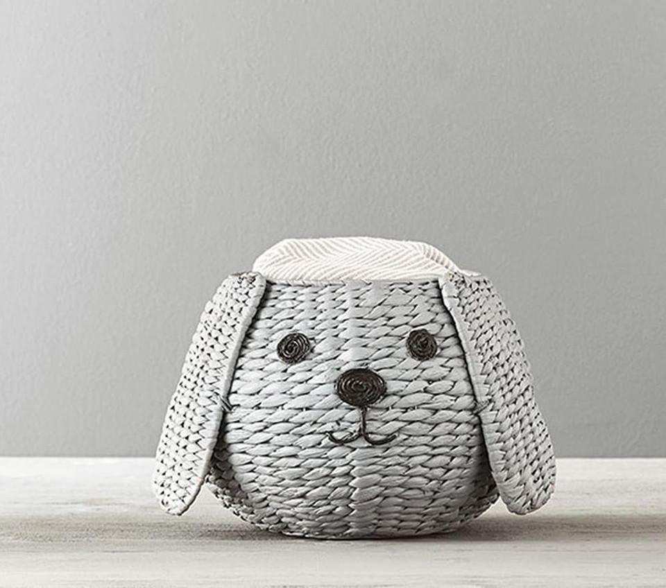 Puppy Shaped Wicker Basket Small Pottery Barn Kids Au