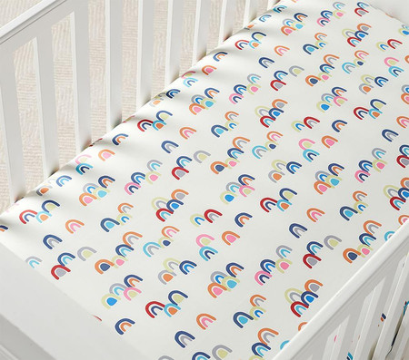 Rainbow Cot Fitted Sheet