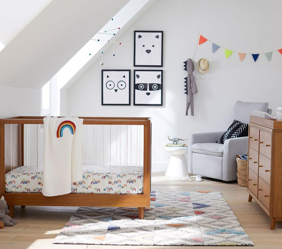 Rainbow Cot Fitted Sheet Pottery Barn Kids